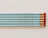 Paris is always a good idea pencil set aqua gold