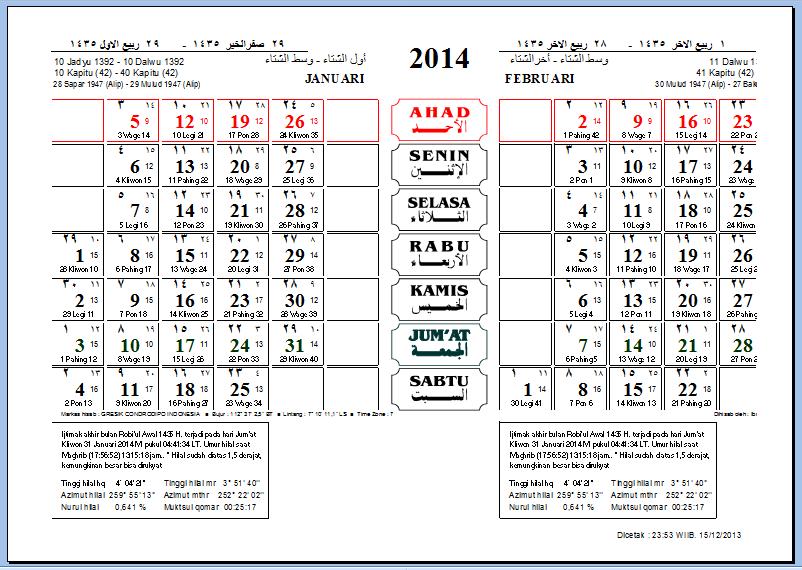 Kalender 1901 - 2199 dengan Aplikasi Excel - GratisFullTain | Download
