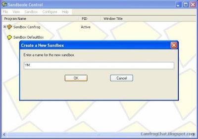 Buat File Sanboxie Baru