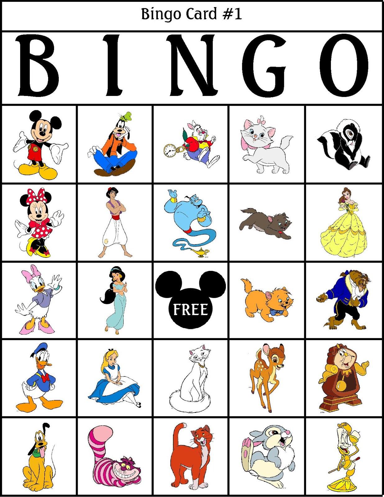Genius image inside disney bingo printable