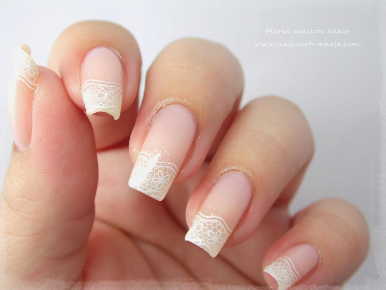 nail art french en dentelle9