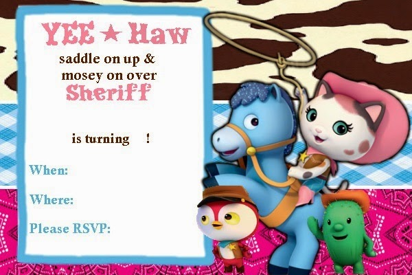 Sheriff Callie Party Invitations Sheriff Callies Wild West