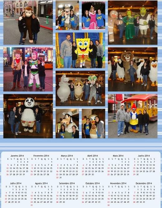 Calendário de 2014