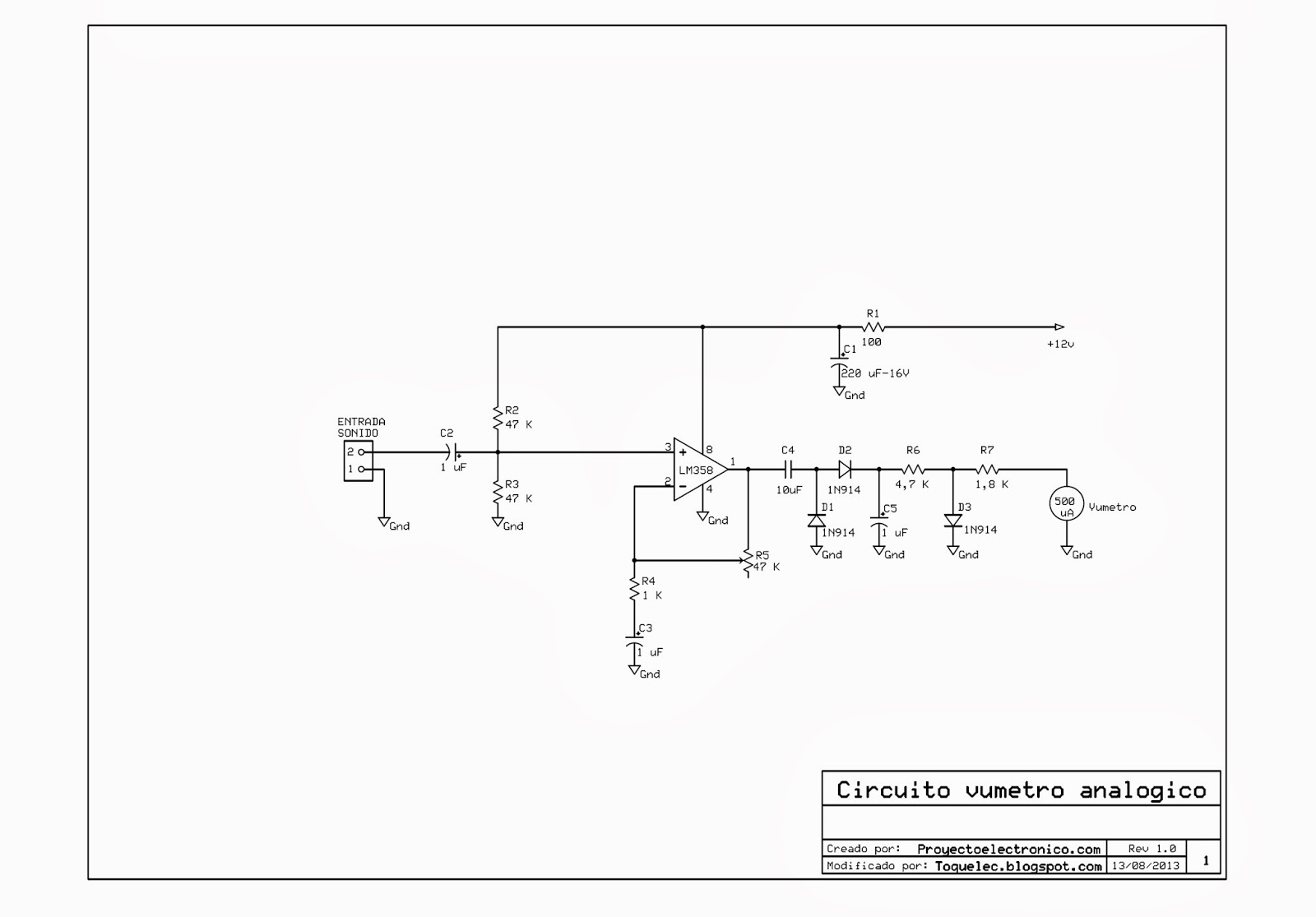 Circuito Vumetro : La ciencia de toquelec construcción un circuito para