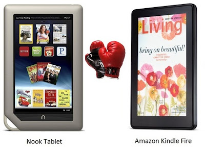 Nook Tablet Vs Kindle Fire: Features Compared