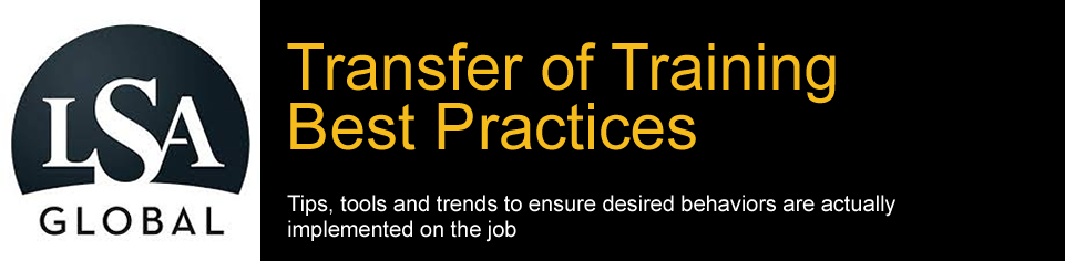Transfer of Training Best Practices