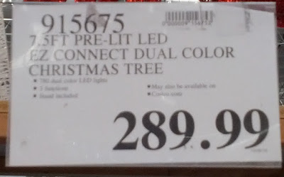 Deal for a 7.5 ft Pre-Lit Dual Color LED Christmas Tree at Costco