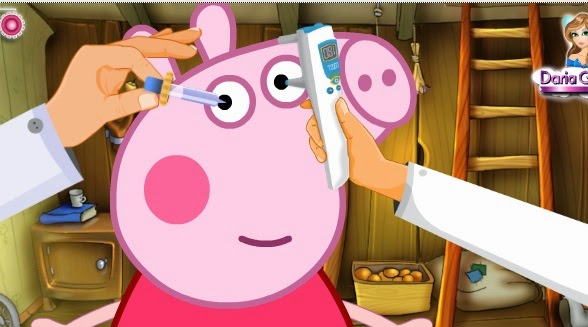Peppa Pig eyecare free fun game games jigsaw puzzle painting