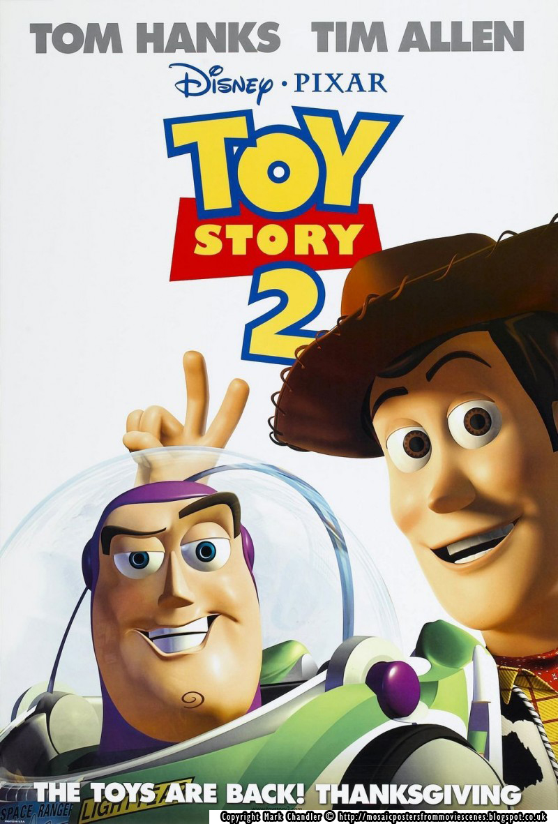 Mosaic Toy Story Mosaic Posters From Movie Scenes - Heres how pixar copy scenes from other movies