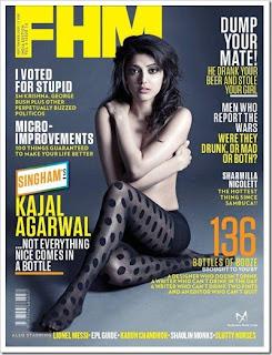 Kajal Agarwal Topless for FHM, Kajal Agarwal Topless Stills in FHM, Kajal Agarwal Topless Photos For FHM Magazine