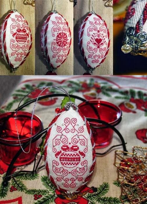 Вышивка для елочных шаров 663