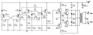 Rangkaian Inverter DC 12V Ke AC 220V 100 Watt Transistor