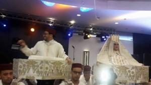 بالصور والفديو : حفل زفاف شقيق اسماء لمنور وعروسه الصحفية