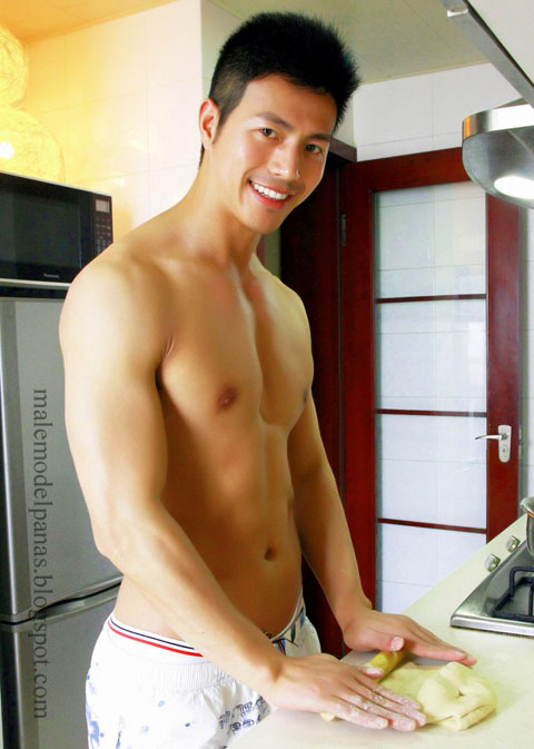 handsome shirtless asian men