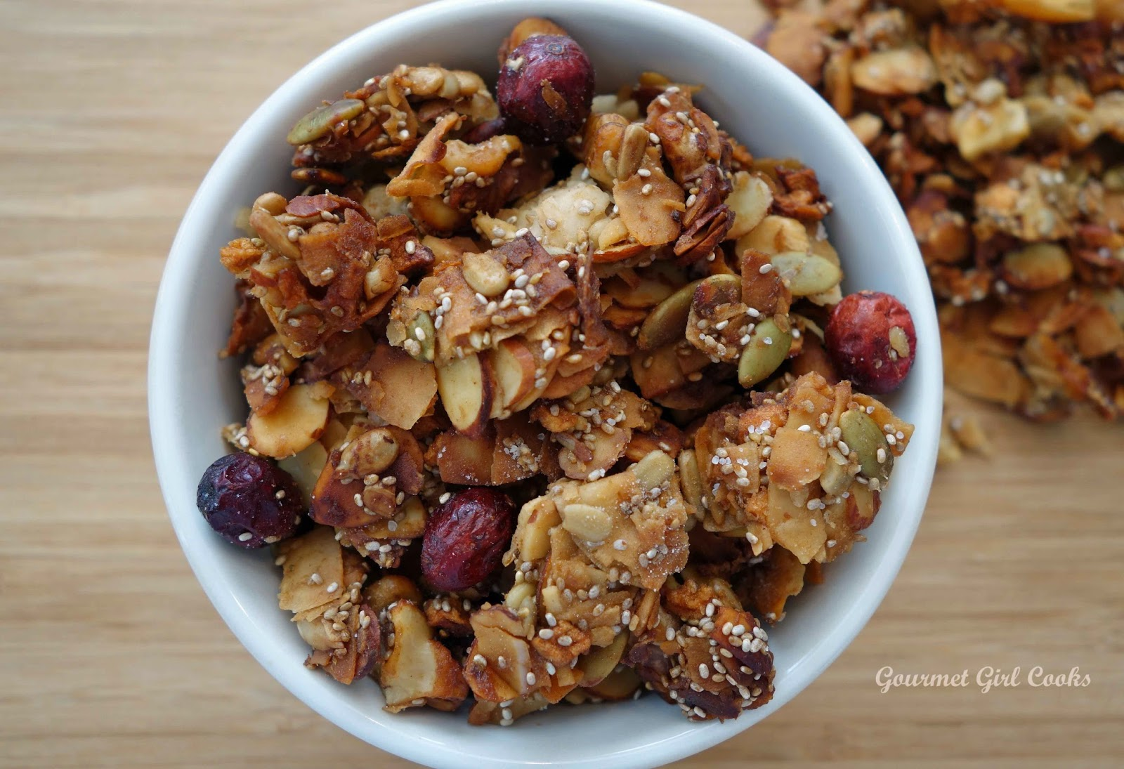 ... Girl Cooks: Coconutty Cranberry-Apple Granola -- 100% Grain Free