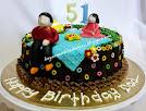 Pandan Birthday Cake