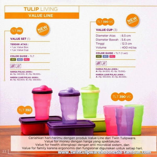 Value Set, Value Cup, Value Line, Produk Baru 2014