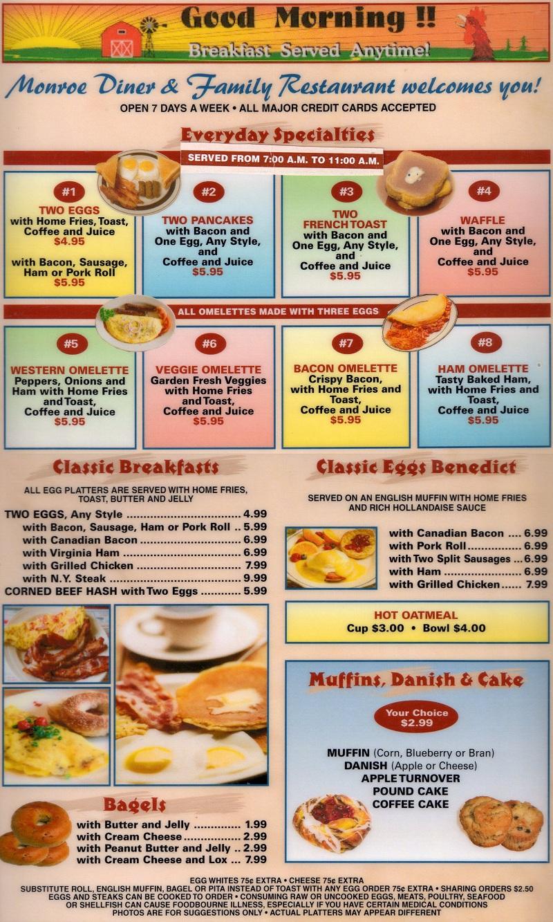 esl worksheets american diners monday morning worksheet