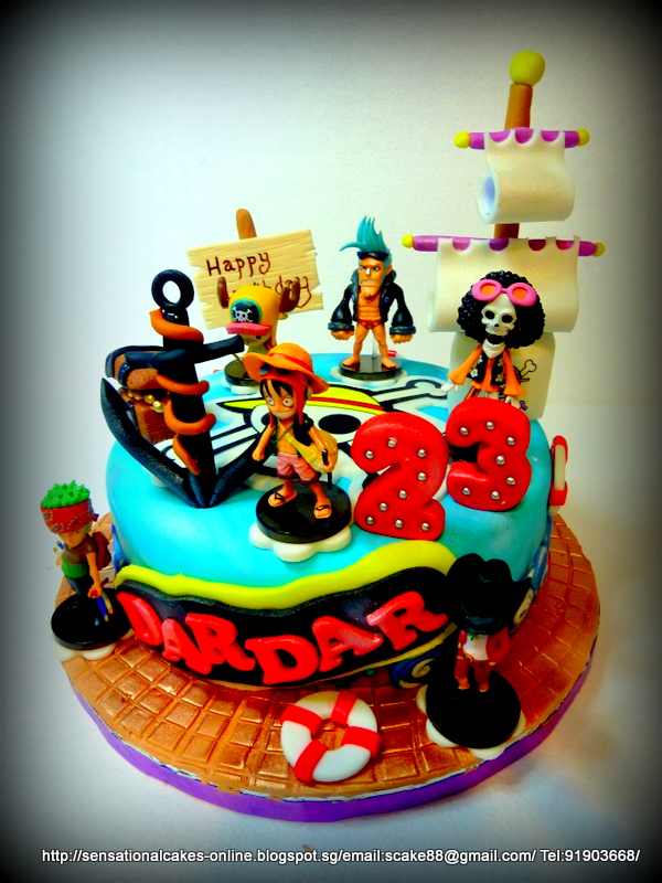 The Sensational Cakes One Piece Cake Singapore Pirate Theme Cake