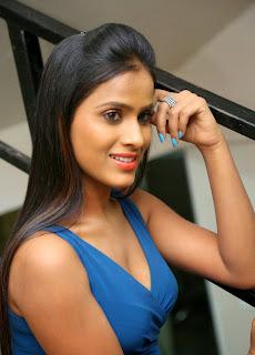 Telugu Anchor Prashanthi  In Blude dress Stills 03.jpg