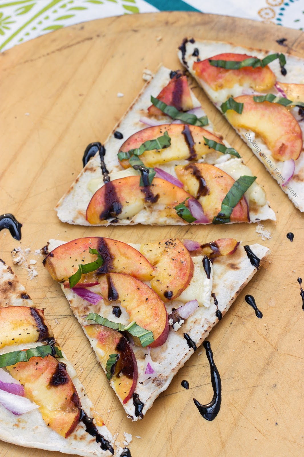 Peach and Brie Grilled Flatbread | Cooking on the Front Burner