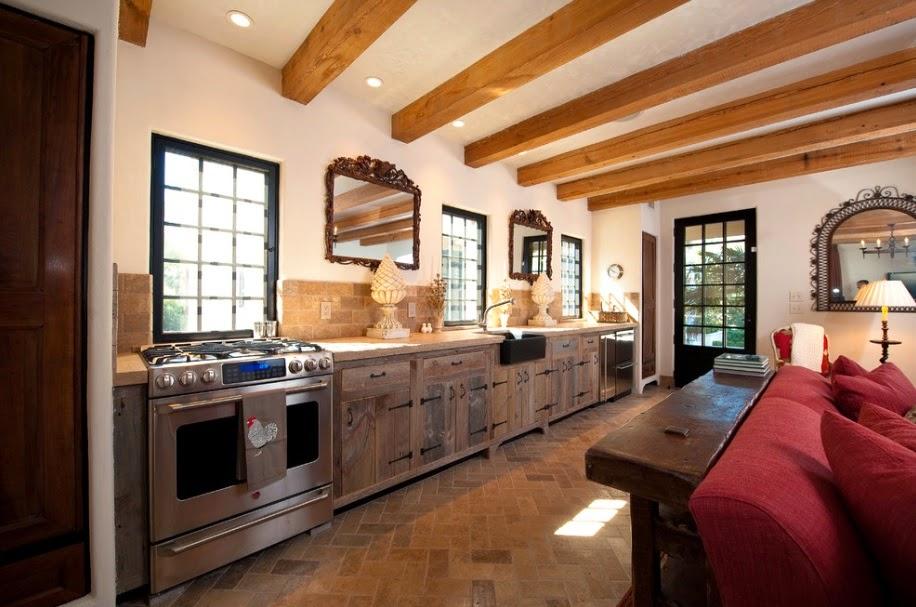 maneras de tener una cocina rustica