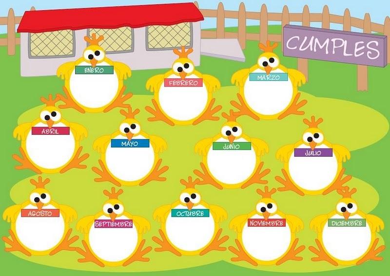 Actividades para Educación Infantil: Carteles para cumpleaños
