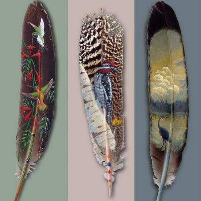 peinture sur plume