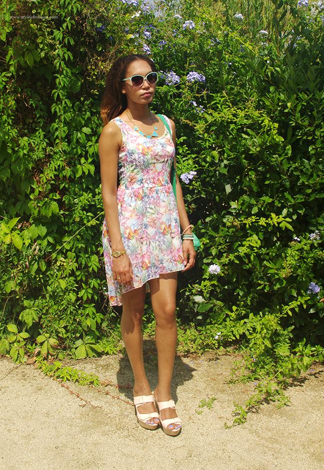 Paradise Island Floral Print Dress