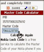 cara membuka kode hp nokia