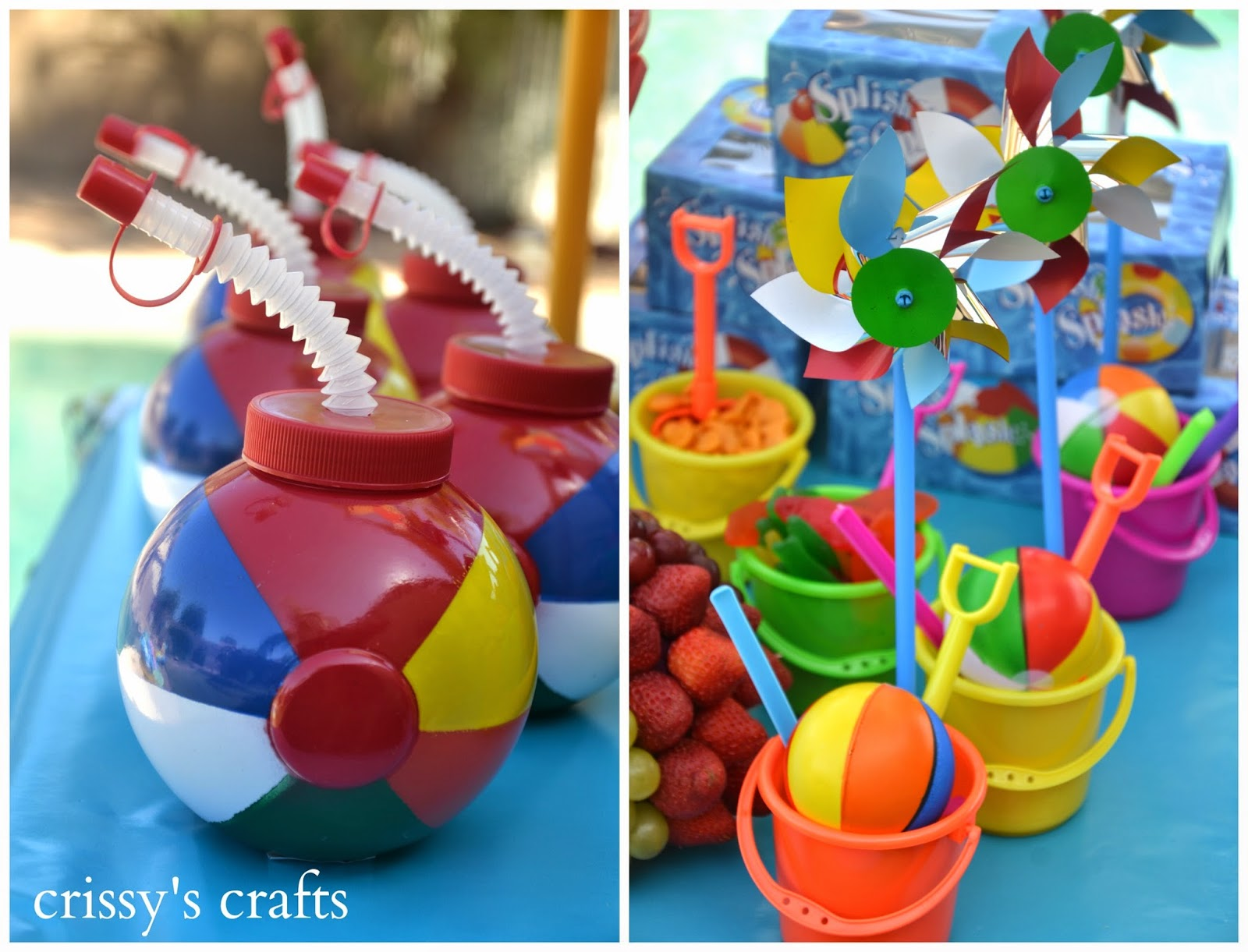 The children took home some cool favors like beach ball cups beach