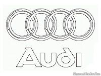Gambar logo mobil Audi untuk diwarnai