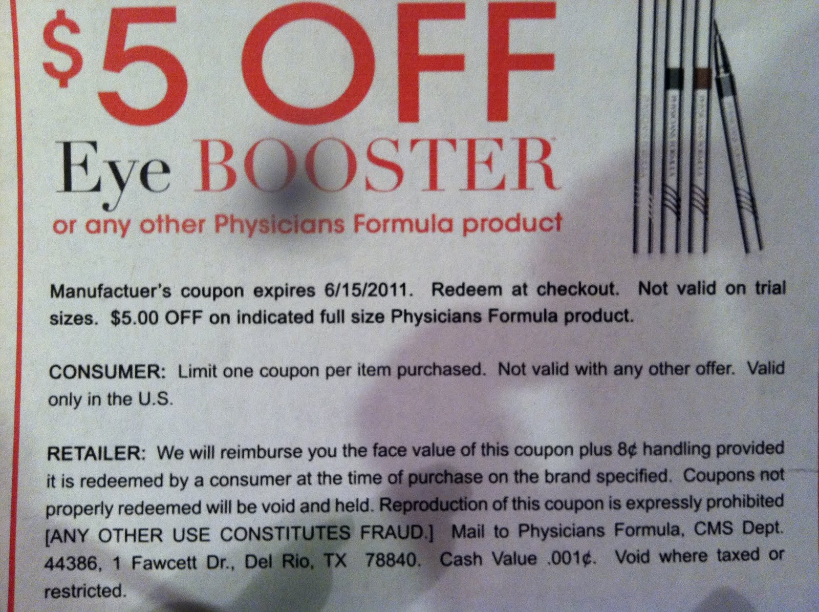 It is a picture of Eloquent Physicians Formula Printable Coupon