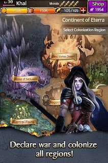 Screenshots of the Battle for the throne for Android tablet, phone.