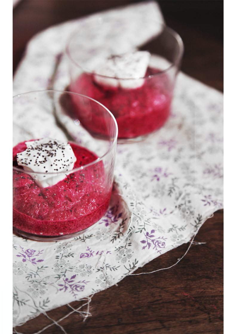 crème de betterave rouge qux pavots