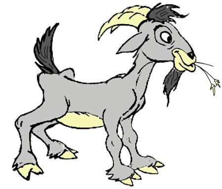 Cartoon Billy Goat Kedves gyerekek!