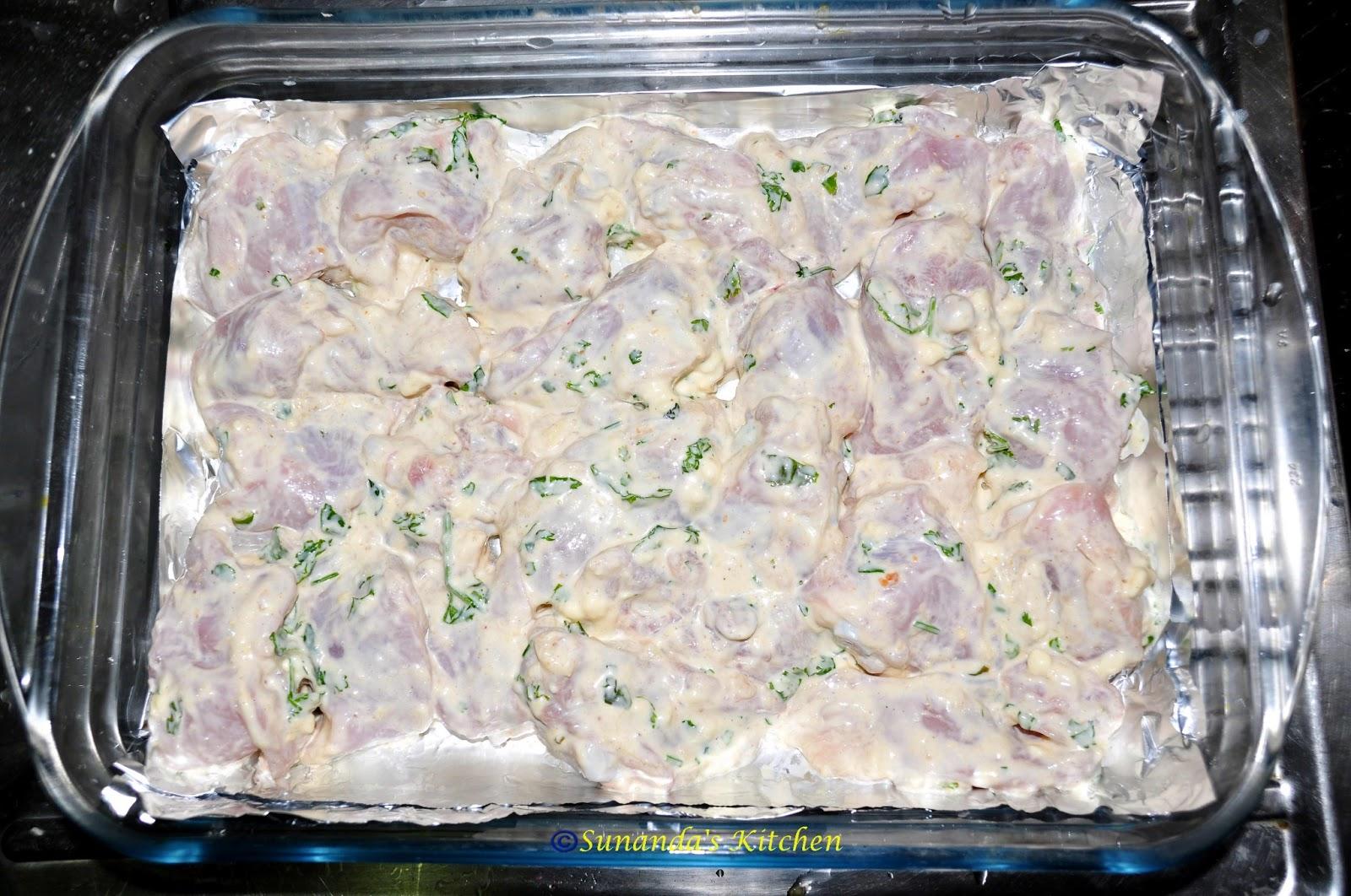 No-oil Murg Malai Tikka | Recipes from Sunanda\'s Kitchen