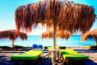 Santorini beach Perivolos