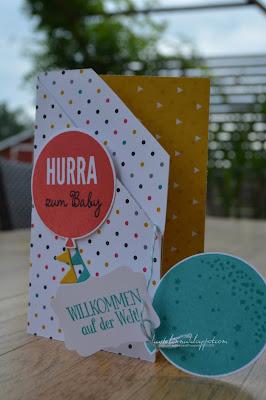 stampin up + babykarte + wir feiern