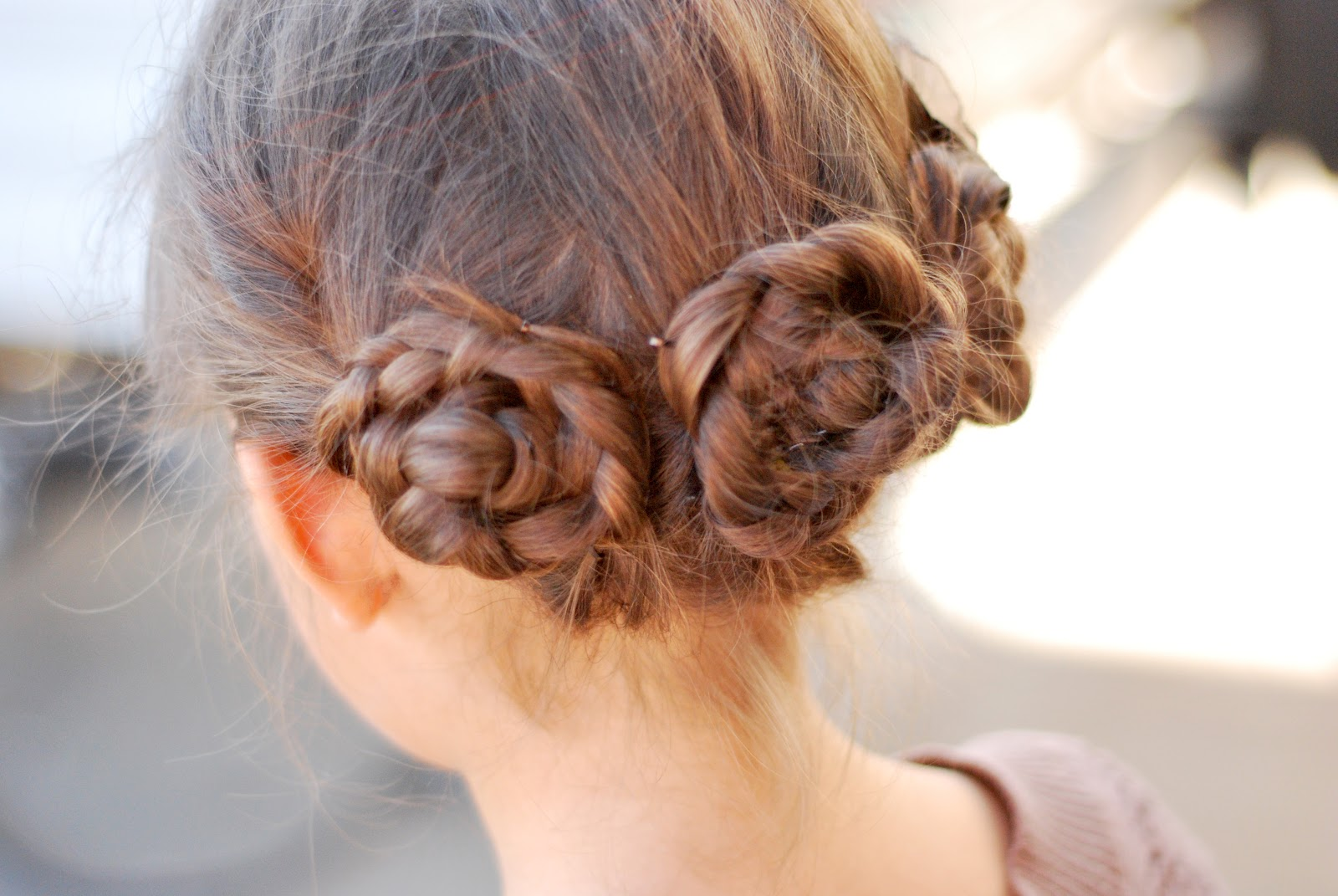 Side 3 Braided Buns