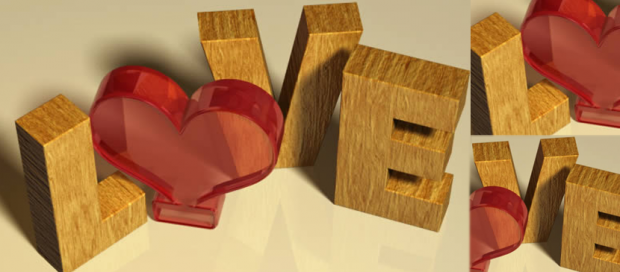 A Word Art For Valentine's Day in Photoshop