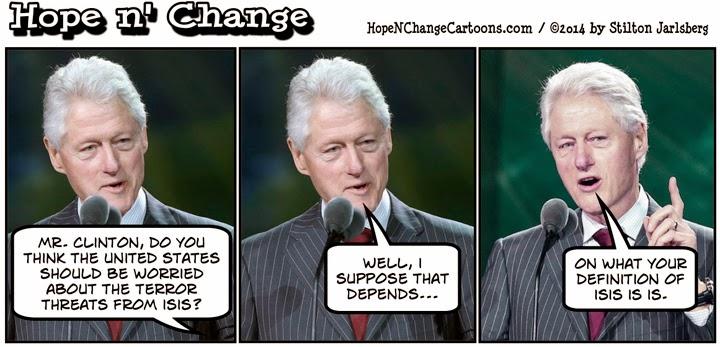 obama, obama jokes, bill clinton, is is, isis, conservative, political, humor, hope n' change, cartoon, hope and change, stilton jarlsberg