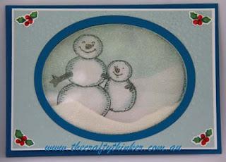 SU, Christmas card, Xmas, Shaker Card, Sponging, Masking, www.thecraftythinker.com.au