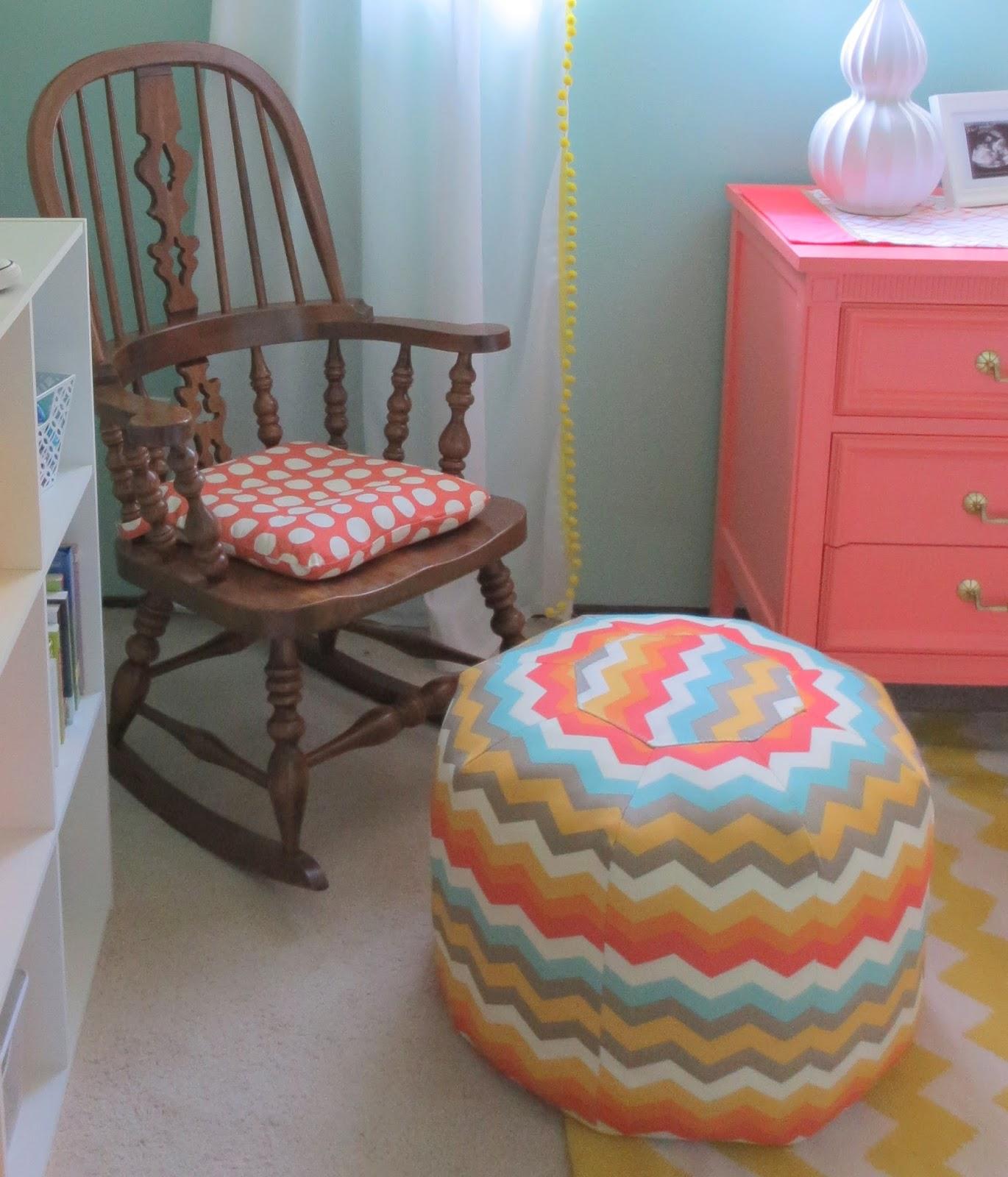 Two nursery ikea hacks pom pom curtains and rocking chair cushion
