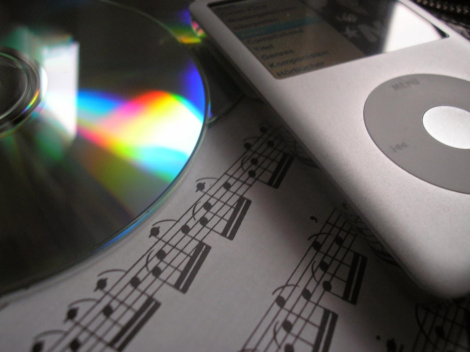 Meine Herztöne   Short Stories   Thema im November: Musik deines Lebens   Notenblatt mit iPod und CD