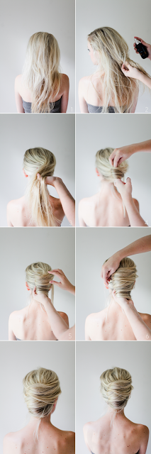 5 Minute Hairstyles to Simplify Your Life - Messy French Twist