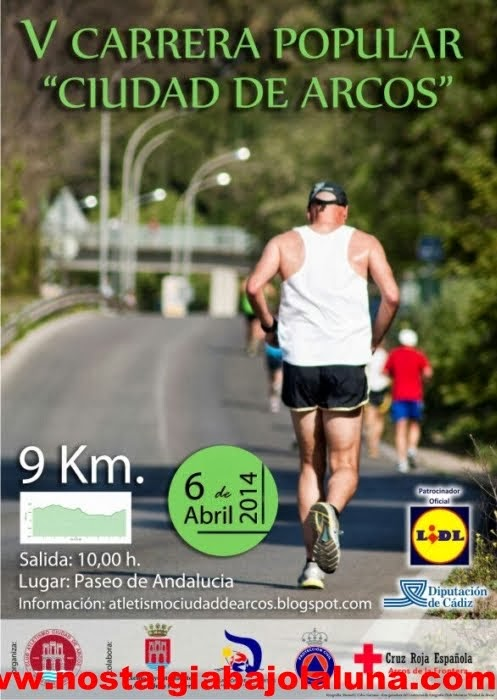 CARTEL V CARRERA POPULAR CIUDAD DE ARCOS 2014