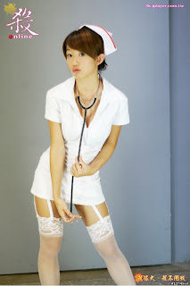 Big Breasts Taiwan version of Guo Shu Yao Taiwan girl Killing online uniform endorsement photo 9