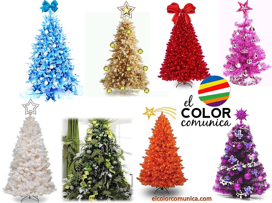 El color comunica significado del arbol de navidad - Arboles de navidad colores ...