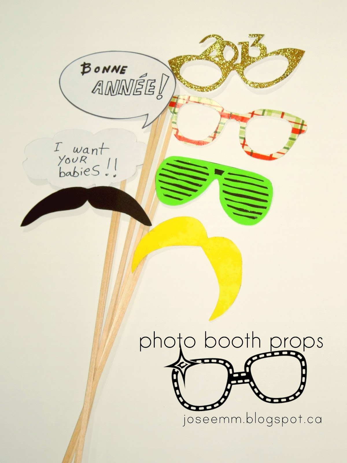 diy free printable photo booth props by joseemm.blogspot.ca